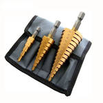 TITANIUM COATED STEP DRILL BIT SET